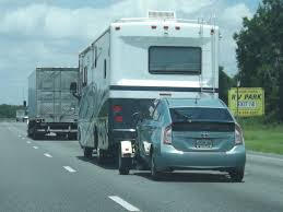 RV towing car